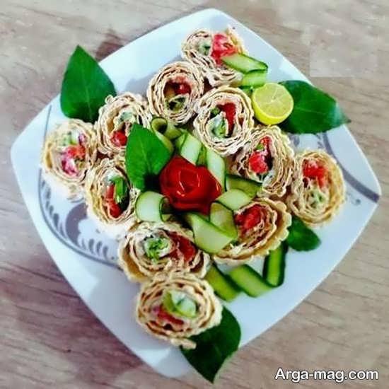تزیینات پنیر خیار گوجه مجلسی