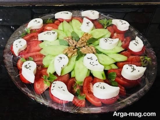 تزیینات پنیر خیار گوجه