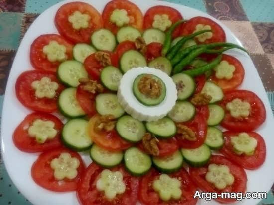 جدیدترین تزیینات پنیر خیار گوجه