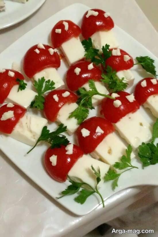 تزیینات متفاوت پنیر خیار گوجه
