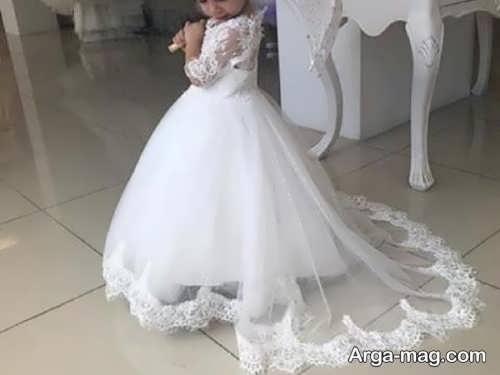 مدل لباس عروس دخترانه با طرحی زیبا