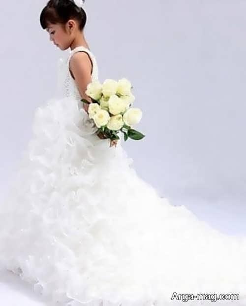 لباس عروس پرنسسی کار شده برای دختران