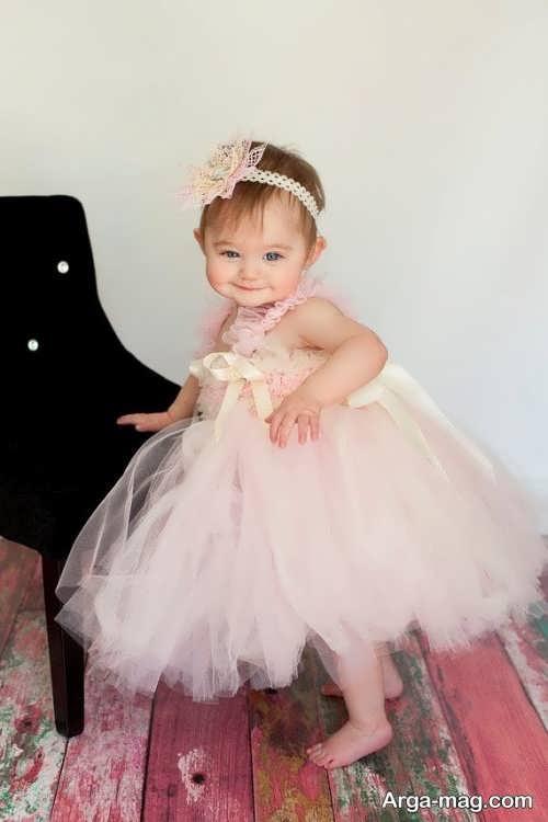 لباس عروس دخترانه پرنسسی شیک