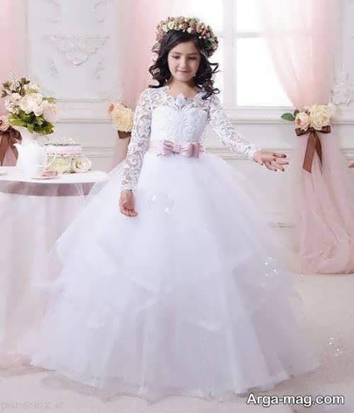 مدل لباس عروس دخترانه با طرحی فوق العاده زیبا