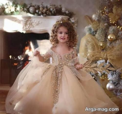 لباس عروس پرنسسی دختران با طراحی فوق العاده