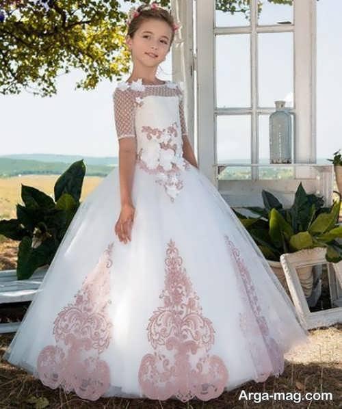 لباس عروس دخترانه پرنسسی دیدنی