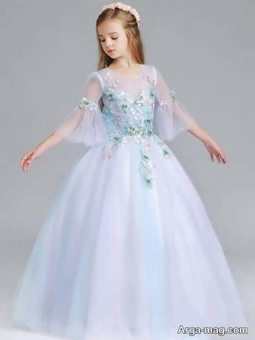 لباس عروس دخترانه پرنسسی به روز