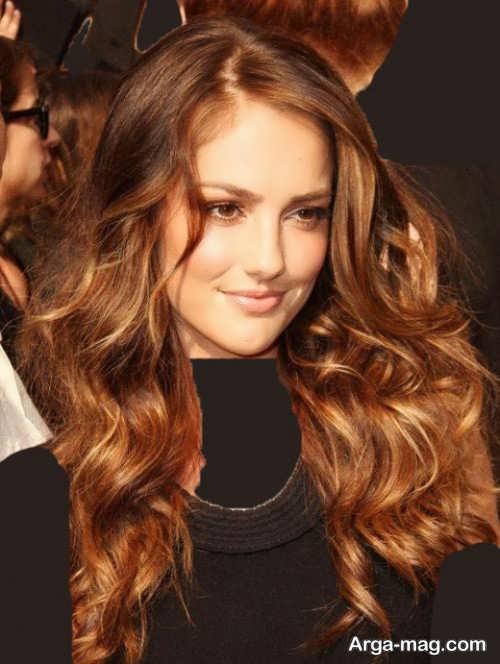 رنگ موی جذاب قهوه ای طلایی