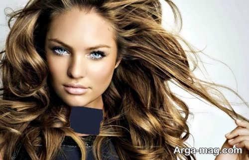 رنگ مو قهوه ای طلایی تیره