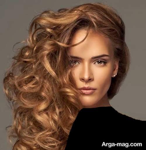 رنگ موی قهوه ای طلایی متوسط