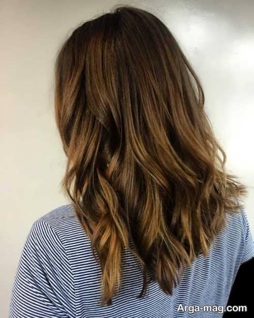 رنگ موی قهوه ای طلایی تیره