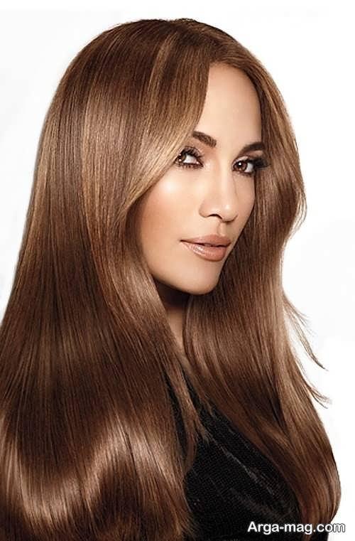 رنگ مو شیک و جدید قهوه ای طلایی