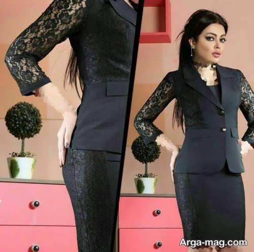 زیباترین مدل کت دامن گیپور