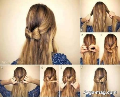 مدل موی بلند دخترانه ساده و شیک