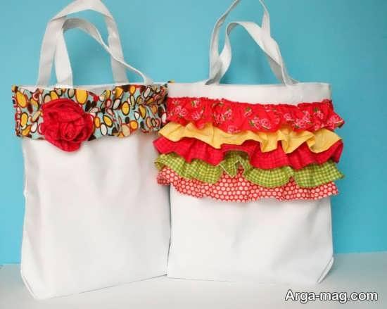 دوخت کیف دخترانه پارچه ای