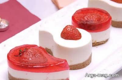 دسر چیز کیک توت فرنگی خوش طعم