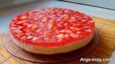 طرز تهیه چیز کیک توت فرنگی خوش طعم در خانه