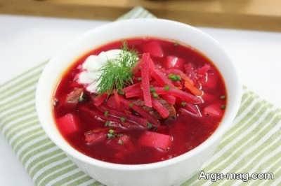 دستور تهیه سوپ چغندر