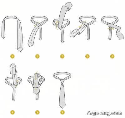 نحوه بستن کراوات