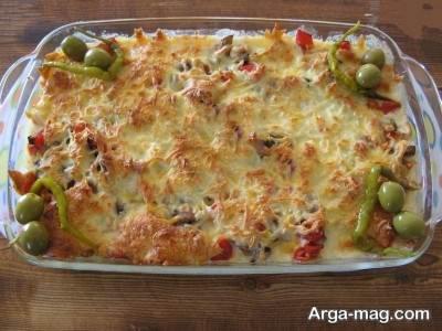 آماده کردن سیب زمینی باقارچ و پنیر