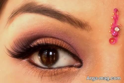 مدل آرایش چشم هندی دخترانه