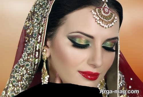مدل زیبا و شیک آرایش چشم هندی