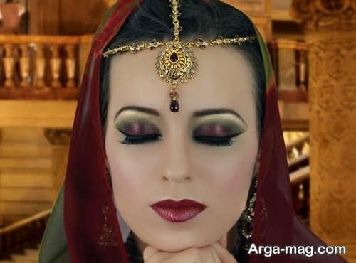مدل آرایش زیبا چشم هندی