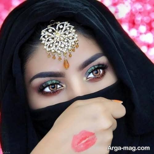 مدل آرایش چشم زنانه هندی