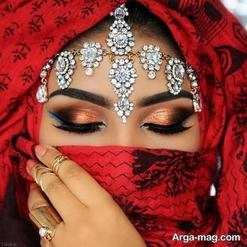 مدل میکاپ زیبا و شیک چشم هندی