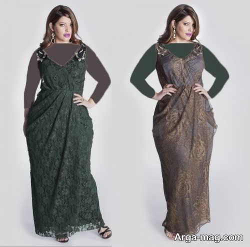 مدل لباس مجلسی طرح دار و زیبا