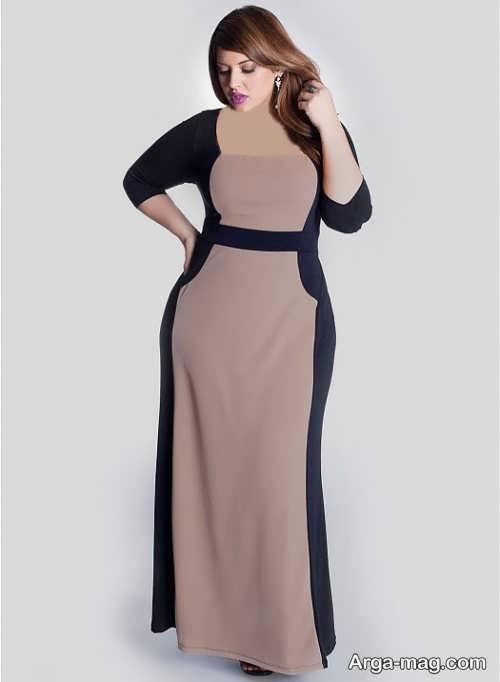 مدل لباس مجلسی دو رنگ و زیبا