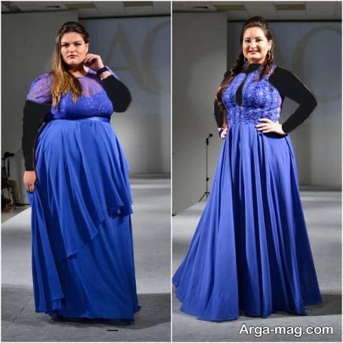 مدل لباس مجلسی بلند برای افراد چاق با جدیدترین طرح ها