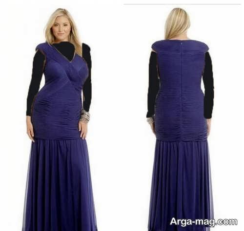 مدل لباس مجلسی بلند برای افراد چاق با طرح های شیک و متنوع