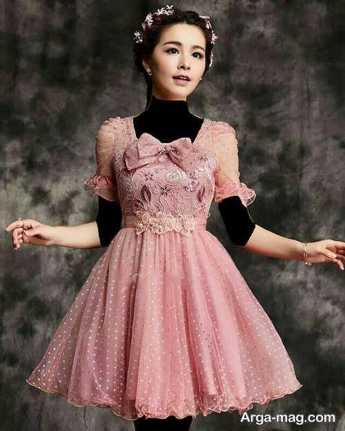 مدل لباس طرح دار عروسکی