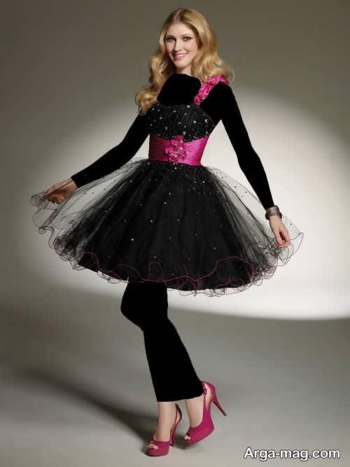 مدل لباس مشکی عروسکی
