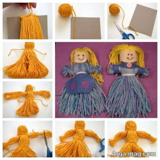 آموزش مرحله به مرحله ساخت عروسک با کاموا