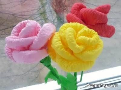 آموزش ساخت گل با دستمال کاغذی