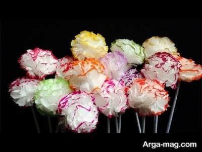 ساختن گل تزیینی زیبا و رنگارنگ با دستمال کاغذی