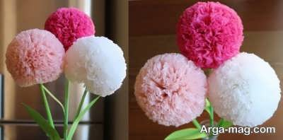 آموزش درست کردن گلهای رنگی بسیار شیک