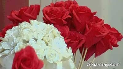 درست کردن گل های رنگارنگ با دستمال کاغذی