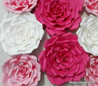 کاردستی ساختن گل با دستمال کاغذی