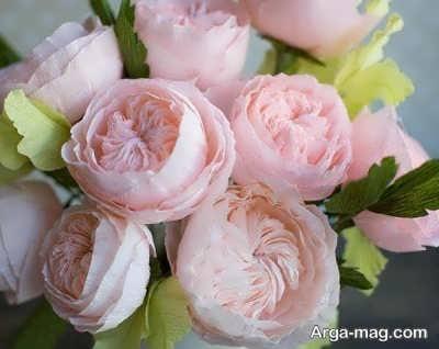 درست کردن گلهای بسیار شیک با دستمال کاغذی