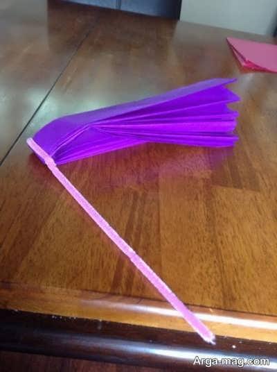 روش ساخت گل با دستمال کاغذی