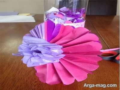 ساخت گل های زیبا با دستمال کاغذی