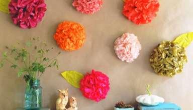 ساخت گل با دستمال کاغذی به صورت مرحله به مرحله