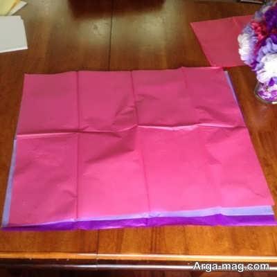 ساخت گل با کمک دستمال کاغذی