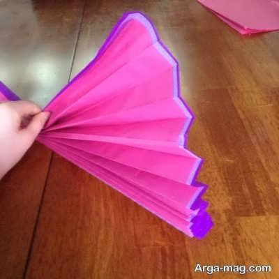 روش ساخت آسان گل با کمک دستمال کاغذی