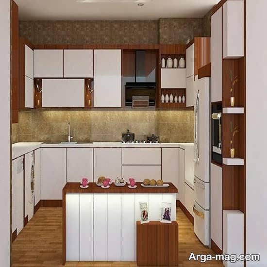 کابینت آشپزخانه کوچک با مدلی زیبا