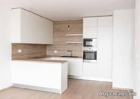 طراحی قشنگ کابینت آشپزخانه کوچک