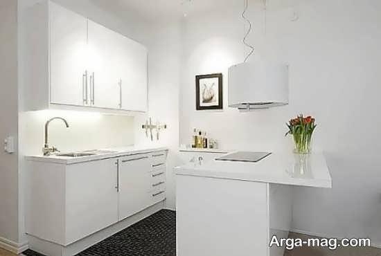 طراحی فوق العاده کابینت آشپزخانه کوچک